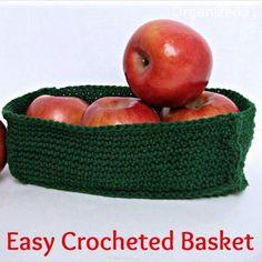 Easy Crochet Basket | FaveCrafts.com