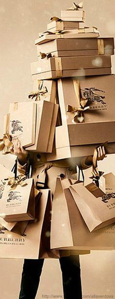 «With love» from Burberry for Christmas...unlimited shopping sprees!!!!!!from yours truly the universe