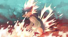 Flames by yassui.deviantart.com on @DeviantArt. #Pokemon #Quilava #fanart