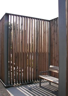 Close up, transparent from a distance. // Fence, privacy - All About Partition Door, Fence Screening, Privacy Fences, Fencing, Modern Pools, Modern Fence, Landscape Walls, Fence Design, Garden Gates
