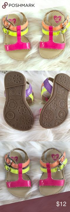 Baby girl Velcro multi colored sandals Very good quality in very good condition Stride Rite Shoes Sandals & Flip Flops