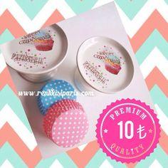 Tatli sunumlariniz icin tekli Cupcake desenli ayakli standlar www.renklisiaris.com