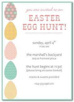 Cute Chicks Easter Egg Hunt Invitation  Holiday Card Diy