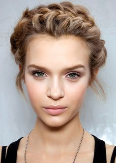 Braids and natural makeup, saw this look on Emma Watson and Loved it!