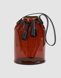 b6b962af47b9 PVC Bucket Bag in Amber Building Block Bag, Minimalist Shoes, Minimalist  Fashion, Transparent
