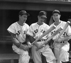 Ted Williams, Johnny Pesky and Dom DiMaggio in May 1946.