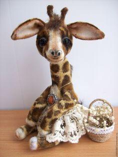 Купить Жозефина - бежевый, жираф, жирафик, жирафа, жираф игрушка, жираф тедди, тедди