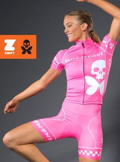 betty designs the betty pink cycle kit as seen on zwift Women s Cycling  Jersey ed2848837