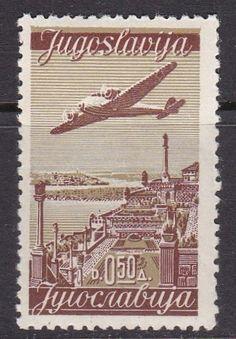 Old Yugoslavia stamp Plane Over Terrace of Kalimegdan,Belgrad 1940 MLH | eBay