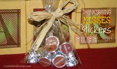 Thanksgiving Hershey's Kisses (Free Printable)