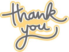 """Hand-drawn """"Thank You"""" Caption  - Free SVG File from SVGCuts #papercrafts"""