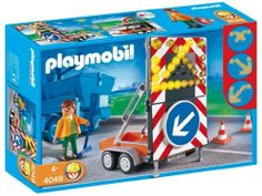 Playmobil LED Signal on Trailer Construction Set by Playmobil. $19.99. 11.8 x 7.9 x 3 inches. 3 different light patterns. 2 AAA batteries required.