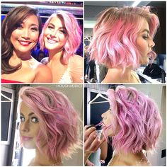 Julianne's pink hair is everything  #juliannehough