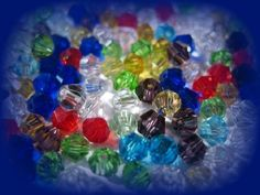 Glass Beads Faceted Bicone Mixed Color Beads. Starting at $5