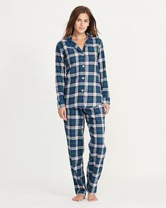 Plaid Cotton Pajama Set - Lauren Sleepwear & Loungewear - RalphLauren.com
