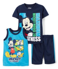 ff27010ab1 Children's Apparel Network Navy Mickey Mouse 'Maximum' Tee Set - Toddler. Swim  TrunksMickey MouseBaby BoyClosetsMichey ...