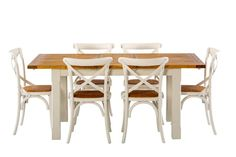 Tuscan Small Extension Package with French Cross Chairs - Products - 1825 interiors