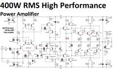 400W High Performance Power Amplifier circuit