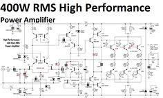 400W High Performance Power Amplifier circuit