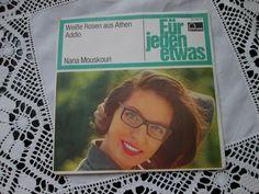 "Nana Mouskouri - Weissen Rosen aus Athen - Fontana 261 264 TF - 7"" vinyl - 1961"
