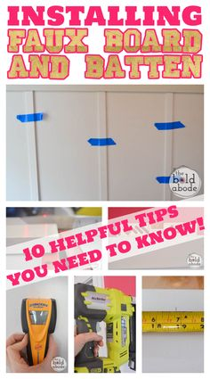 10 Tips for Installing Faux Board and Batten - The Bold Abode