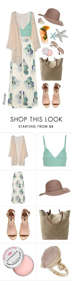 """~Let's go to the beach, each, let's go get away~"" by maloops on Polyvore featuring T By Alexander Wang, Tory Burch, Accessorize, H&M, Independent Reign, Sephora Collection, Fresca, Topshop, springtime and islandgetaway"