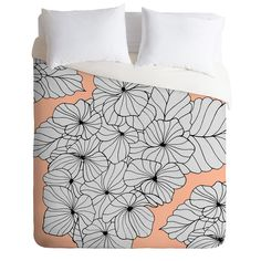 Gabi Hydrangea Peach Duvet Cover