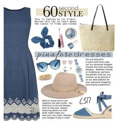 """60-Second Style: Pinafores."" by shiningstars17 ❤ liked on Polyvore featuring Oasis, Soludos, Dorothy Perkins, Avon, GUESS, New Look, Torrid, pinafores and 60secondstyle"