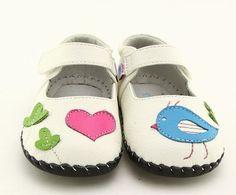 "Kids Got Sole - Freycoo ""Aria"" White Soft Sole Leather Shoes, $30.95 (http://www.kidsgotsole.com.au/freycoo-aria-white-soft-sole-leather-shoes/)"