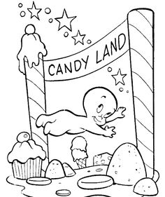 Casper Goes To Candy Land Coloring Pages