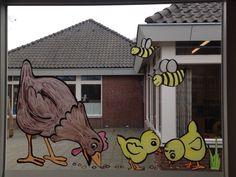 Raamschildering Lente Jonge dieren