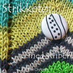Strikket�j ... med striber - Strik og broderi - garn, kits og designs i Sommerfuglen