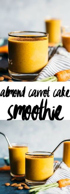 Almond Carrot Cake Smoothie   A healthy, dairy free smoothie that tastes like carrot cake with a hint of almond!