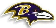 "Baltimore Ravens 12"""" Right Logo Car Magnet"