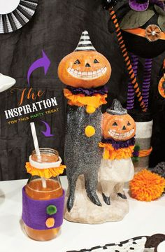 {Sparkly} Vintage Trick-or-Treat Halloween Party Ideas