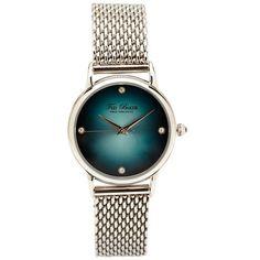 Silver mesh bracelet watch