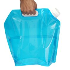 5L Plegable Al Aire Libre Plegable Bolsa de Agua botella de Consumición Plegable Coche Recipiente Portador de Agua para Acampar Al Aire Libre Senderismo kits de viaje