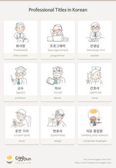Professional Titles in Korean