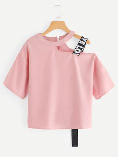 Shop Keyhole Back Cut Out Blouse online. SheIn offers Keyhole Back Cut Out Blouse & more to fit your fashionable needs. Girls Fashion Clothes, Teen Fashion Outfits, Mode Outfits, Cute Fashion, Girl Fashion, Girl Outfits, Fashion Dresses, Clothes For Women, Style Fashion