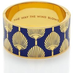 Kate Spade New York The Way The Wind Blows Hinged Bangle ($148) ❤ liked on Polyvore