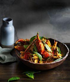 Mud-crab curry recipe.