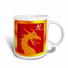 3dRose Dragon F, Ceramic Mug, 15-ounce