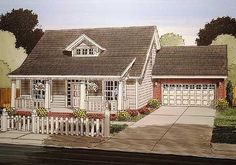 Plan 52252WM: 3 Bed Bungalow with Attached Garage