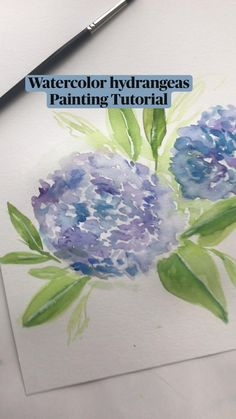 Watercolor Paintings For Beginners, Watercolor Art Lessons, Watercolor Painting Tutorials, How To Watercolor, Floral Watercolor, Watercolor Water, Watercolor Journal, Watercolor Canvas, Watercolor Ideas