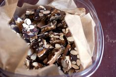 Salted Chocolate Almond Toffee