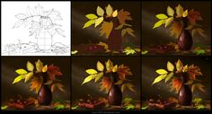 Leaves [Making of] by =Azot-2013 on deviantART