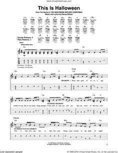 halloween for voice guitar or piano sheet music this is