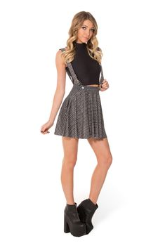 Chainmail Pinafore Pocket Skater Skirt (WW $80AUD / US $75USD) by Black Milk Clothing