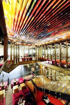 Queensland University of Technology (QUT) Kelvin Grove Library Upgrade - Book Canopy Architecture Awards, Commercial Architecture, Residential Architecture, Contemporary Architecture, Architecture Details, Interior Architecture, Interior And Exterior, Australian Interior Design, Interior Design Awards