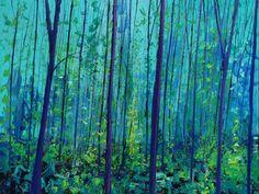 Gertjan Scholte-Albers, Iza loof (2013) Dit 2D kunstwerk is een schilderij en stelt een bos voor. Je ziet er door het vrij blauwgroene kleurgebruik vooral lichtdonker contrast (gras en lucht). Ook al is het landschap met grove halen geschilderd je kan toch zien wat het is. Dit spreekt mij erg aan want dat vind ik een mooie schilderstijl. Er wordt diepte gecreëerd doordat op de voorgrond dikker en groter word geschilderd dan op de achtergrond. Ook worden er organische vormen gebruikt.